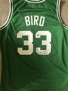 Larry Bird Signed Jersey Dual Authenticated (JSA & Bird Holo)