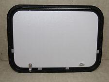 NEW NEW RV - LCI - CARGO DOOR - 26 X 18 - WHITE W/BLACK FRAME - #317-6