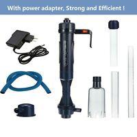 110V/220V Aquarium Electric Cleaner Syphon Fish Tank Pump Vacuum Gravel Filter