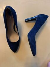 Franco Sarto High Heel Shoes Size 6.5 Blue Leather Upper