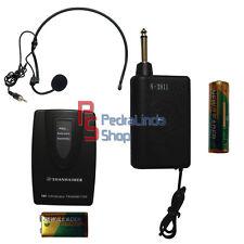 PDR*MICROFONO CUFFIA ARCHETTO TRASMETTITORE VHF WIRELESS SENZA FILI S-2011