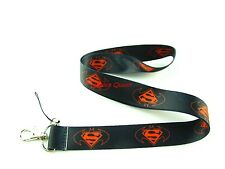 10 pcs superman Neck Strap Lanyard Keychain Phone Card Badge Holder L244