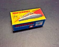 Matchbox Lesney Superfast Hovercraft 72  box only  No car,