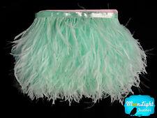 1 Yard - AQUA BLUE Ostrich Fringe Trim Wholesale Feather (bulk)