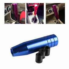 Blue 13cm Long Plus Manual Car Metal Gear Stick Shift Knob Head Shifter Lever