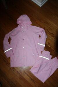 "❤️ NEW!!!  Hanna Andersson ""Hello"" Rain Suit Coat & Matching Pants; Sz 140/150"