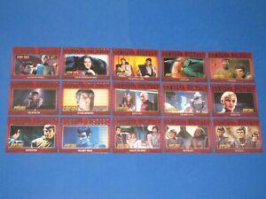 2002 Star Trek Nemesis Movie Romulan History Insert Chase 27 Card Set R1-R27!