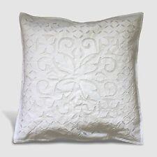 Federa cuscino 40x 40 cm RICAMATO Fodera shabby chic cotone bianco