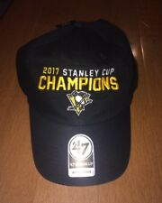 Pittsburgh Penguins 47 Brand 2017 Stanley Cup Champions Adjustable Hat Cap