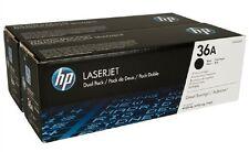 HP 36A Dual Pack (CB436AD) Black Toner