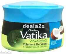 2 x 140ml Dabur Vatika Volume Thickness hair styling cream Coconut Henna Almond