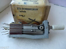 Post Office Lever Key Switch 6 Pole Change Over new Old Stock 1 pc
