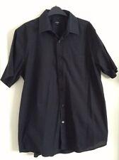 "George Mens Black Short Sleeve Shirt Size 16.5"" Collar"