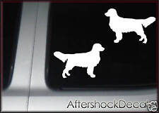 Golden Retriever Dog Sticker Decal Pair