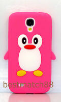 for Samsung galaxy S4 cute 3D Penguin rubber soft back case cover i9500  SIV
