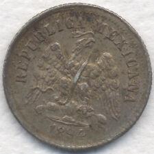 1894 Zs 10 CENTAVOS ZACATECAS MEXICO SHARP LOVELY TONED UNC ORIG ESTATE COIN