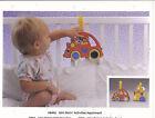VINTAGE AD SHEET #3297 - 1990 MATTEL - MINI ROLLIN BABY TOYS