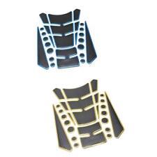 2x 3D Pegatinas de Tanque de Gasolina Protector para Motocicleta Azul + Oro
