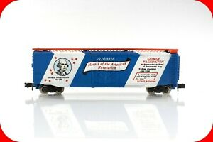 N Scale JULY 4TH USA 1776-1976 - GEORGE WASHINGTON - 50' Box Car - Bachmann 5203
