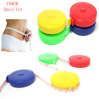 2X Cute Retractable 1.5M/60inc Tape Ruler Measure Sewing Cloth Dieting Tailor