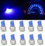 10 X T5 70 73 74 Wedge Ultra Blue 1-SMD Car LED Dashboard Light Gauge Cluster F