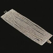 Unbranded Crystal White Gold Plated Tennis Costume Bracelets