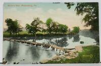 Bloomsburg Pa Boone's Dam 1910 to Benton Pa Postcard M1