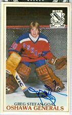 Greg Stefan Ohawa Generals Hockey Studio 601 McDonalds Autograph P.L.A.Y. #22