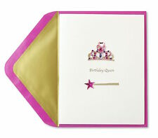 Papyrus Jeweled Tiara & Crown Birthday Queen Greeting Card NIP