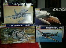 4 Revell Kits Shuttle Challenger Mitsubishi Falcon  Phantom 4528 5222 5813 5421