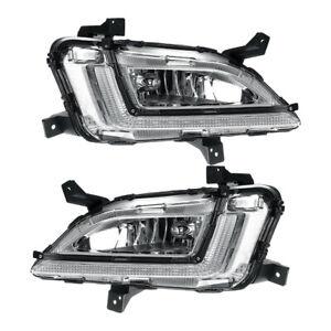 2Pc Car Front LED Fog Light Daytime Running Lamp DRL Fit For Hyundai Tucson 2019