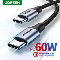 Ugreen USB C Cable 60W 20V/3A PD Fast Charge Lead FOr MacBook Pro Air iPad Pro