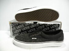 VANS ERA LX CLASSIC WOOL LOW MEN SHOES BLACK/WHITE VN-OEXKXPL SIZE 10 NEW