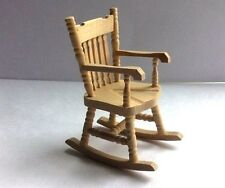 Barewood Rocking Chair [1], Dolls House Miniature, 1.12th Scale, Chair Seating