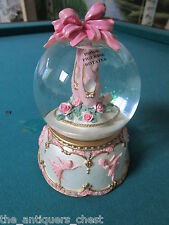 "Michael Adams music box water globe Ballerina, plays ""Moonlight Sonata"" Nib[a4-1"