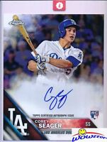 2016 Topps Chrome Corey Seager AUTOGRAPH JUMBO 8x10 ROOKIE MINT MLB Authentic!