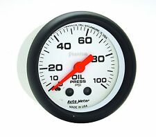 "Auto Meter 5721 Phantom Mechanical Oil Pressure Gauge 2 1/16"" 0 - 100 psi"