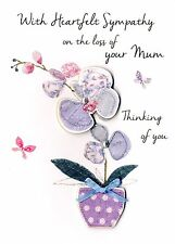 Sympathy On Loss Of Your Mum Greeting Card Second Nature Just To Say Cards