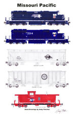 "Missouri Pacific Grain Train 11""x17"" Poster Andy Fletcher signed"