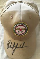 Phil Mickelson autographed signed autograph 2005 PGA Championship golf cap hat