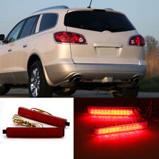 2pcs LED Lens Rear Bumper Reflector Brake Light Lamp For Buick Enclave 2009-2013