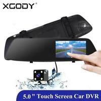 """XGODY 5.0"""" Auto DVR Doppia Lente 1080P HD Touched Dash Cam G-Sensor Videocamera"""