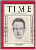 Time Magazine August 20 1928 Richard Byrd Sinclair Lewis Atheism