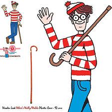 Walking Stick Cane Where's Waldo Wally Costume Prop Bookweek Accessory Adult 92c