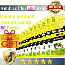 500 Strips Amitras Plus Strips Beekeeping Prevention of Varroatosis Varroa