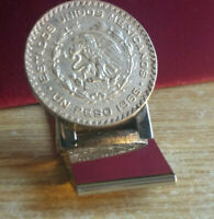 Autthentic 1965 Mexican Peso Silver Plated MoneyClip. Welded to last a lifetime.