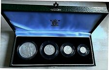 More details for 2001 royal mint britannia 4 coin proof set, 1.85 tr oz pure silver, box and cert