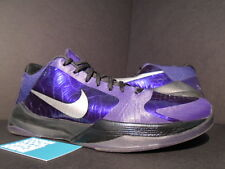 2010 Nike Zoom KOBE V 5 INK PURPLE SILVER BLACK ICE WOLF GREY 386429-500 10.5