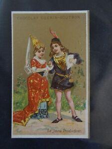 chromo Guérin Boutron, le jeune troubadour