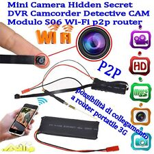 Mini Camera  S06 Spy 1080P HD Wireless IP WiFi P2PModulo IOS Android DVR Foto